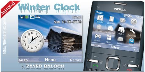 nokia c3 christmas themes top 4 clock themes for nokia c3 hasan baloch