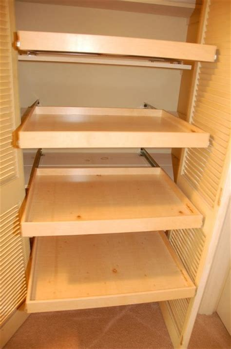Where To Buy Shelves For Closet by Linen Closet Pull Out Shelves Closet Organizers