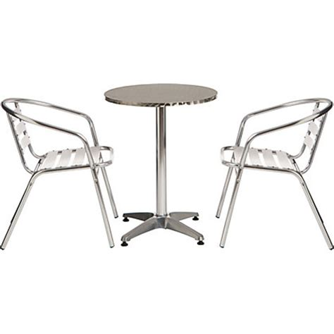 Homebase Bistro Table Flip Top Garden Bistro Set With Aluminium Chairs
