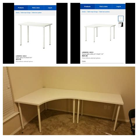 ikea linnmon corner desk dimensions linnmon adils corner desk and regular desk from ikea