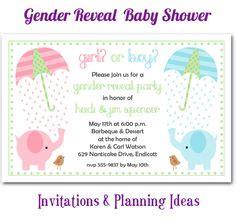 Elephant Themed Baby Swing Or Miss On Swings Gender Reveal Baby