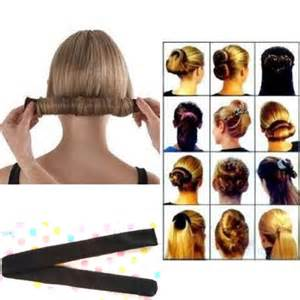 hair bun maker instructiins fashion hair styling donut former foam french twist magic