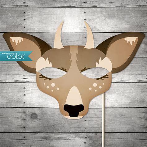 printable antelope mask template diy printable spike horn deer mask by shadesofeverycolor