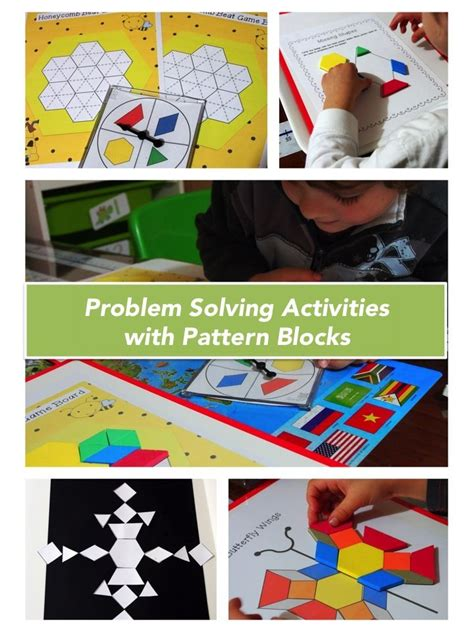 pattern problem solving activities 1000 images about pattern blocks on pinterest number