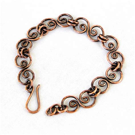 Copper Handmade Jewelry On Etsy - handcrafted jewelry hammered copper bracelet by karilujewelry