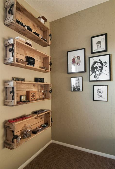 repurposed wooden crate ideas crate shelves diy