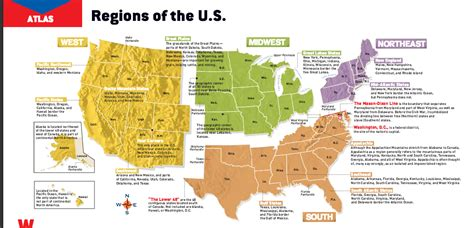 8 regions of the united states map barnard tech integration grades 4 5 the regions and