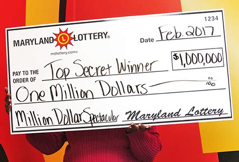 Win 1 Million Dollars Instantly - maryland lottery spectacular scratch off win sends lucky