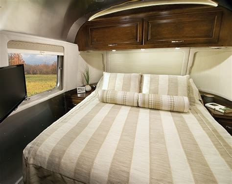 travel trailer bedding airstream redesigns their classic travel trailer for 2015