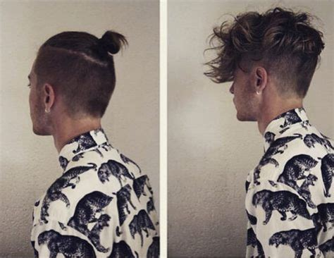mens hair topknot man bun undercut hairstyle guide for guys undercut hairstyle