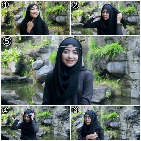 tutorial hijab pesta dengan headband kreasikan hijabmu dengan tutorial hijab with headband