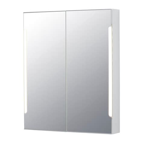 storjorm mirror cabinet w 2 doors amp light 80x14x96 cm ikea