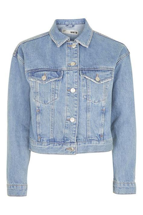 Denim Jacket moto fitted denim jacket topshop