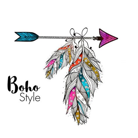 free vector watercolor bohemian feather pattern download boho vectors photos and psd files free download