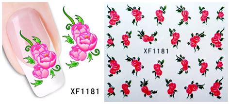 Nail Bonbon Water Decals Xf Series Part 2 60sheets xf1181 xf1240 nail water tranfer sticker nails wraps foil decals