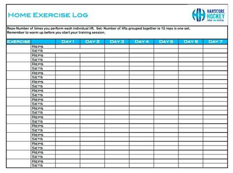 7 best images of basic workout logs printable printable excercise logs ideal vistalist co