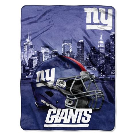 New York Giants Blankets by The Nfl Heritage Silk Touch New York Giants Throw Is