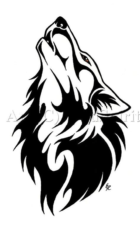 howling wolf tribal tattoo best 25 tribal wolf tattoos ideas on tribal