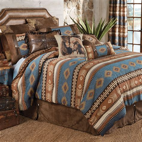 western bedding king size sierra bed set lone star