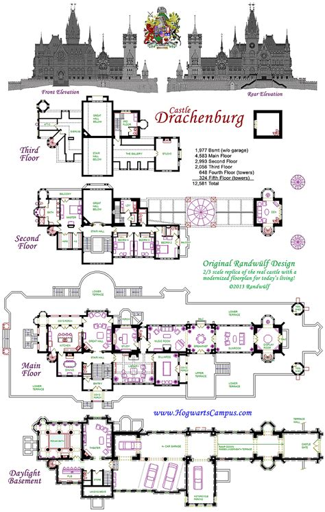 floor plans of castles drachenburg castillo piso plan planos de casas