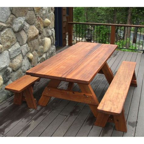 vintage redwood picnic table 16 best images about picnic table on painted