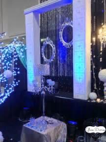 Royal blue black amp white decor vancouver wedding decorator