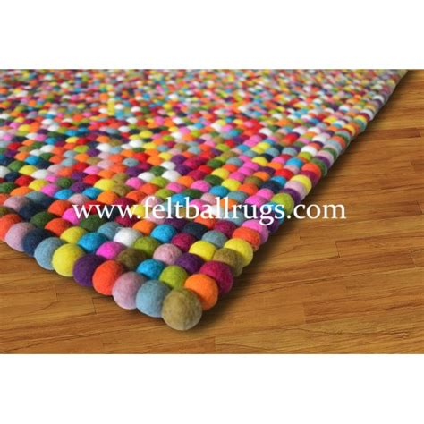 rainbow rug rectangle square colorful rainbow felt rug felt