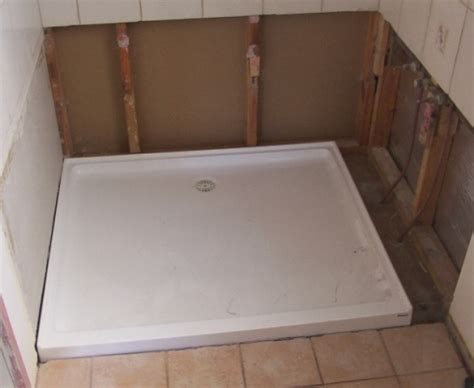 wet seal bathroom shower base installation
