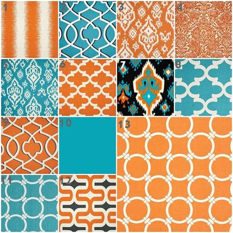 Turquoise And Orange Crib Bedding Modern Turquoise And Orange Baby Bedding Crib Set Crib Bedding Turquoise Aqua Teal Blue