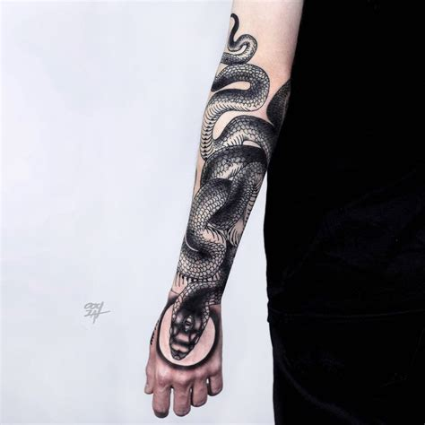 snake forearm tattoo 203 best snake tattoos images on