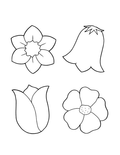printable flowers to cut spring flower coloring sheets bulletin board cut outs