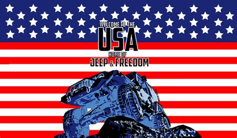 American Flag Jeep Jeep And Freedom Wallpaper By Sibastino On Deviantart