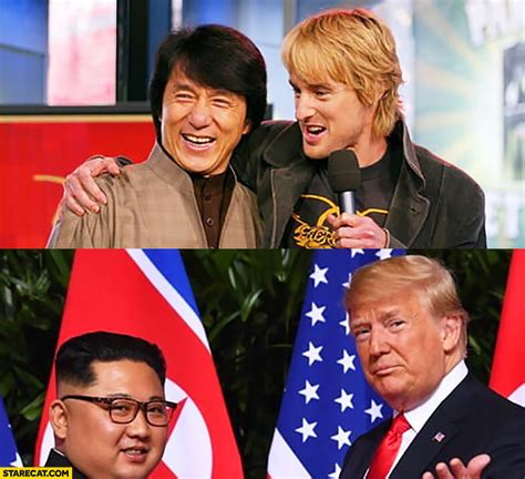 owen wilson and jackie chan jackie chan owen wilson in the past vs now kim jong un