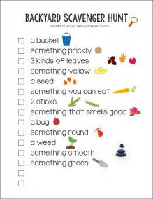 Backyard Scavenger Hunt Ideas Free Printable Backyard Scavenger Hunt Checklist With Visuals For Toddlers And Early Readers