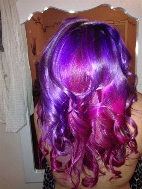 color brilliance purple mermaid hair using ion color brilliance magenta and manic