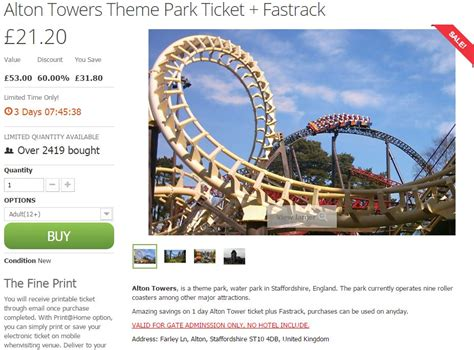 theme park gift vouchers alton towers voucher codes discount codes deals money