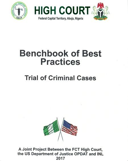 criminal trial courts bench book criminal trial bench book home fct high court