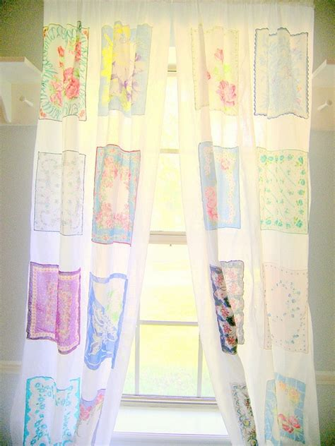 handkerchief curtains handkerchief curtains white in between to space out