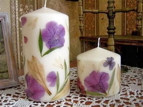 how to decorate candles at home wonderful diy decorate candles with dry flowers