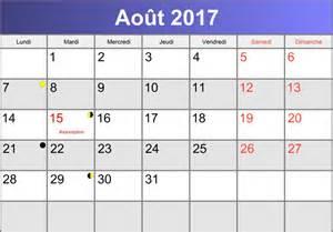 Calendrier Aout Calendrier Ao 251 T 2017 224 Imprimer Pdf Abc Calendrier Fr