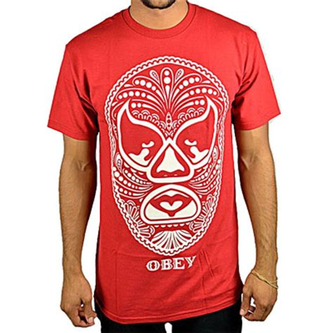 Tshirt Obey Abs obey luchador t shirt in at revert