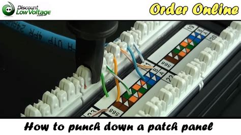 punch   network ethernet patch panel youtube