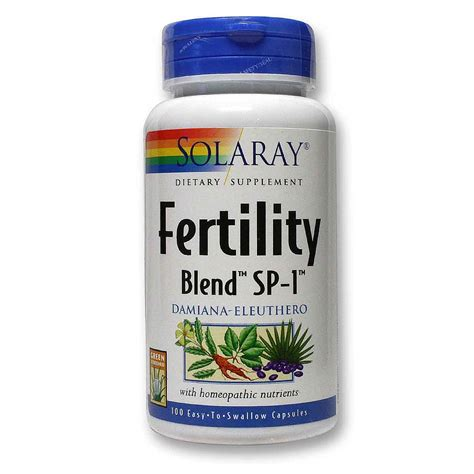 Fertile Detox Reviews by Solaray Fertility Blend Sp 1 100 Caps Evitamins