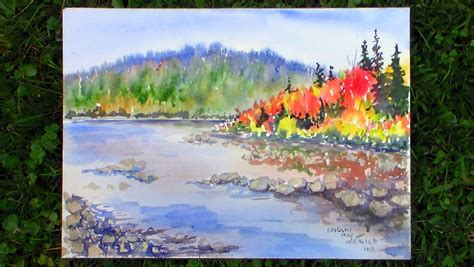 watercolor landscape tutorial youtube fall landscape watercolor painting www imgkid com the