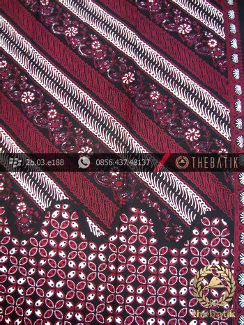 Kain Batik Kawung Merah jual kain batik cap tulis jogja motif parang seling kawung