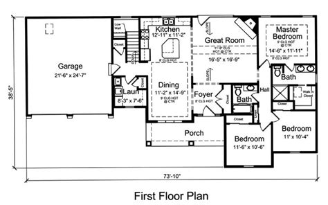Ranch House Plan 92616   Nice, House plans and Finished