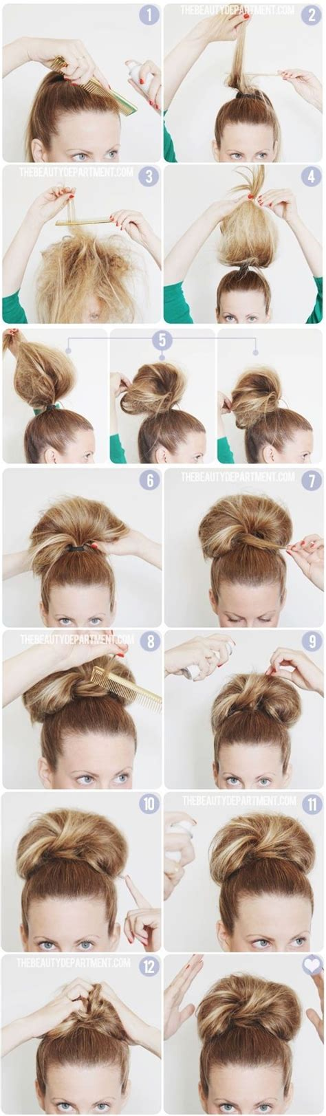 how to do high bun hairstyles 10 super easy updo hairstyles tutorials popular haircuts
