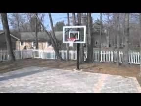 Basketball Court For Backyard Brick Paver Backyard Basketball Court Youtube