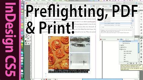 tutorial indesign pdf español indesign cs5 preflight pdf and print you master