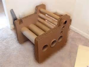 Zig zag structure cardboard chair
